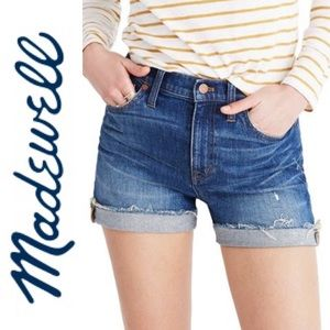Madewell High Rise Cuffed Denim Shorts Glen Oaks